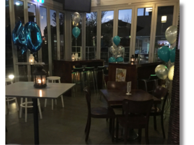 Birthday setup in the main bar